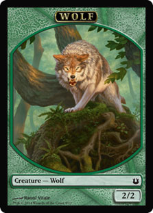 Magic: Born of the Gods Token: Wolf 2/2