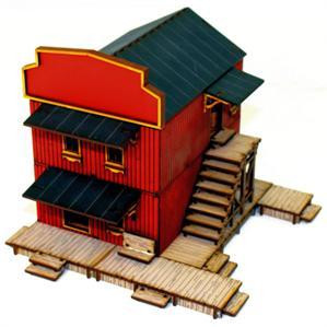 4Ground Miniatures: 28mm Dead Mans Hand: Main Street Building 1