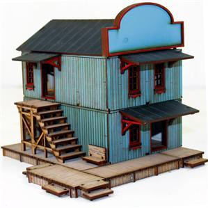 4Ground Miniatures: 28mm Dead Mans Hand: Main Street Building 2