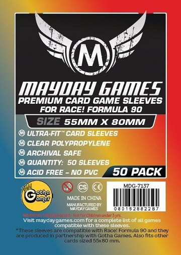 Mayday: Premium Race! Formula 90 Sleeves 55mmx80mm (50)