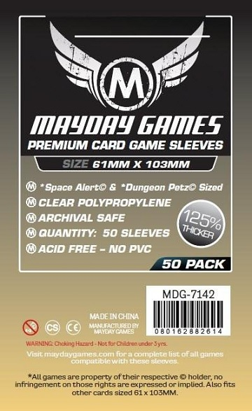 Mayday: Premium Space Alert Sleeves 61mmx103mm (50)