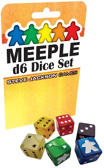 Meeple d6 Dice Set -Yellow