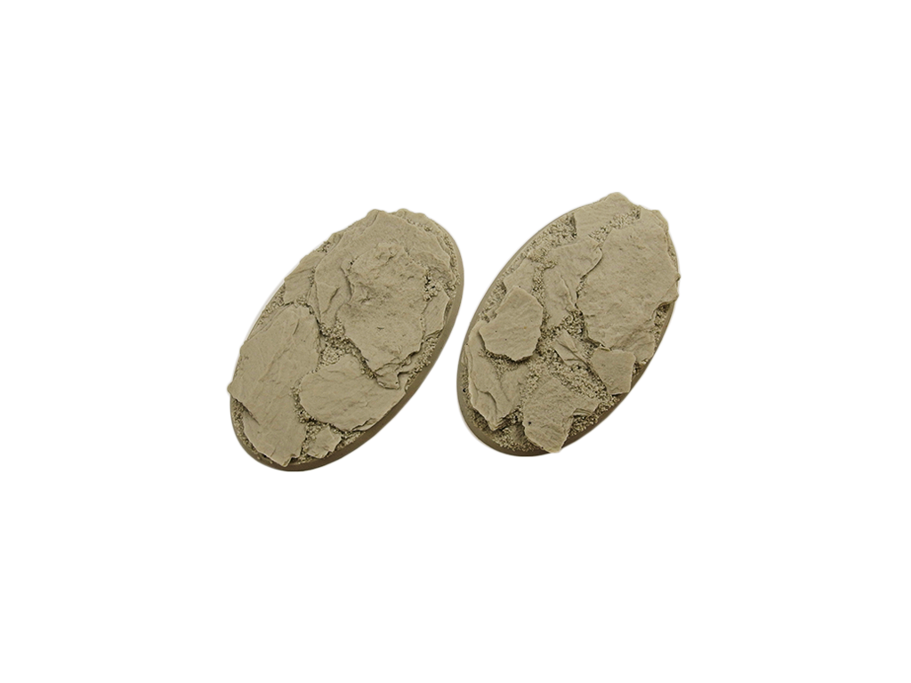 Micro Art Studio: Shale Bases: 90mm Oval (2)