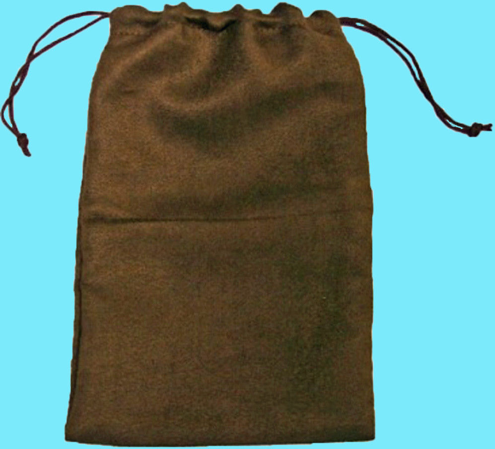 "Koplow Microsuede Dice Bag (6x9""): Brown"