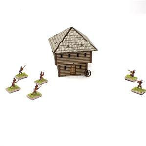 4Ground Miniatures: 15mm American Legends: Milita Block House