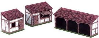 Miniature Building Authority: 28mm Eurovillage: Lean to Set