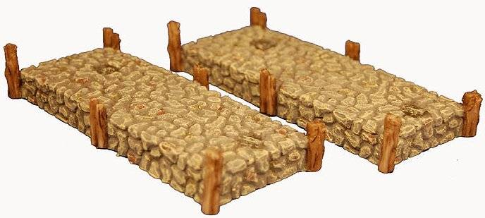 Miniature Building Authority: 28mm Eurovillage: Stone Piers (2)