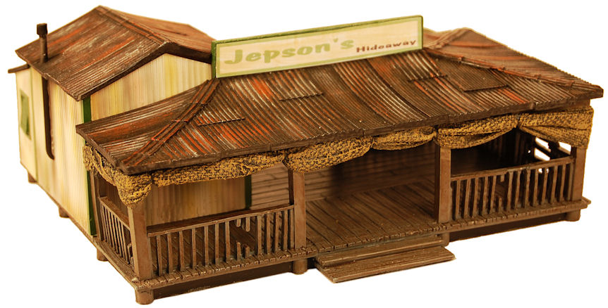 Miniature Building Authority: 28mm High Adventure: Jepsons Hideaway Jungle Bar