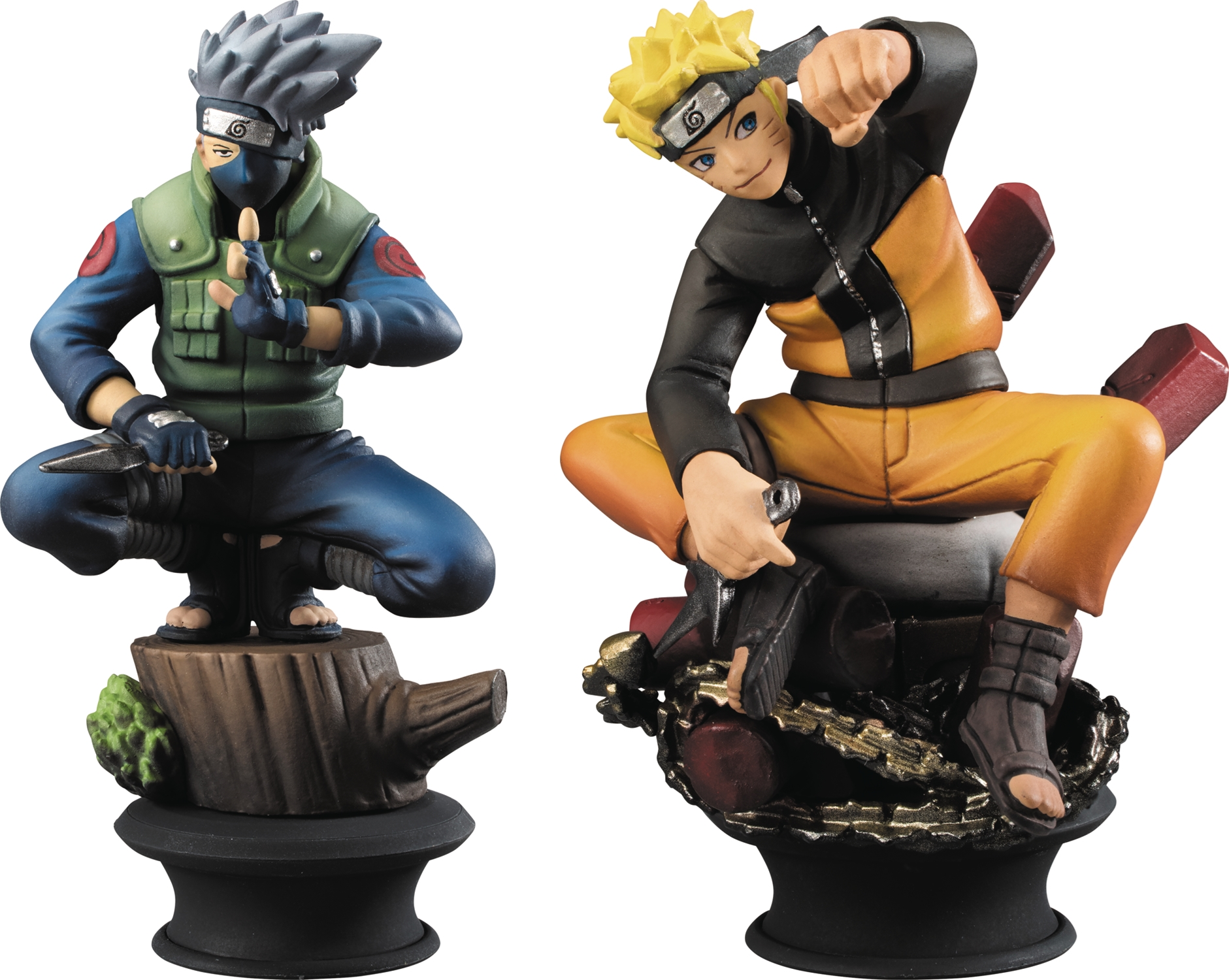 Naruto Shippuden: Chess Piece Collection- Naruto & Kakashi