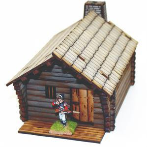 4Ground Miniatures: 28mm American Legends: Pioneers Log Timber Cabin 1