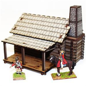 4Ground Miniatures: 28mm American Legends: Settlers Log Timber Cabin 1