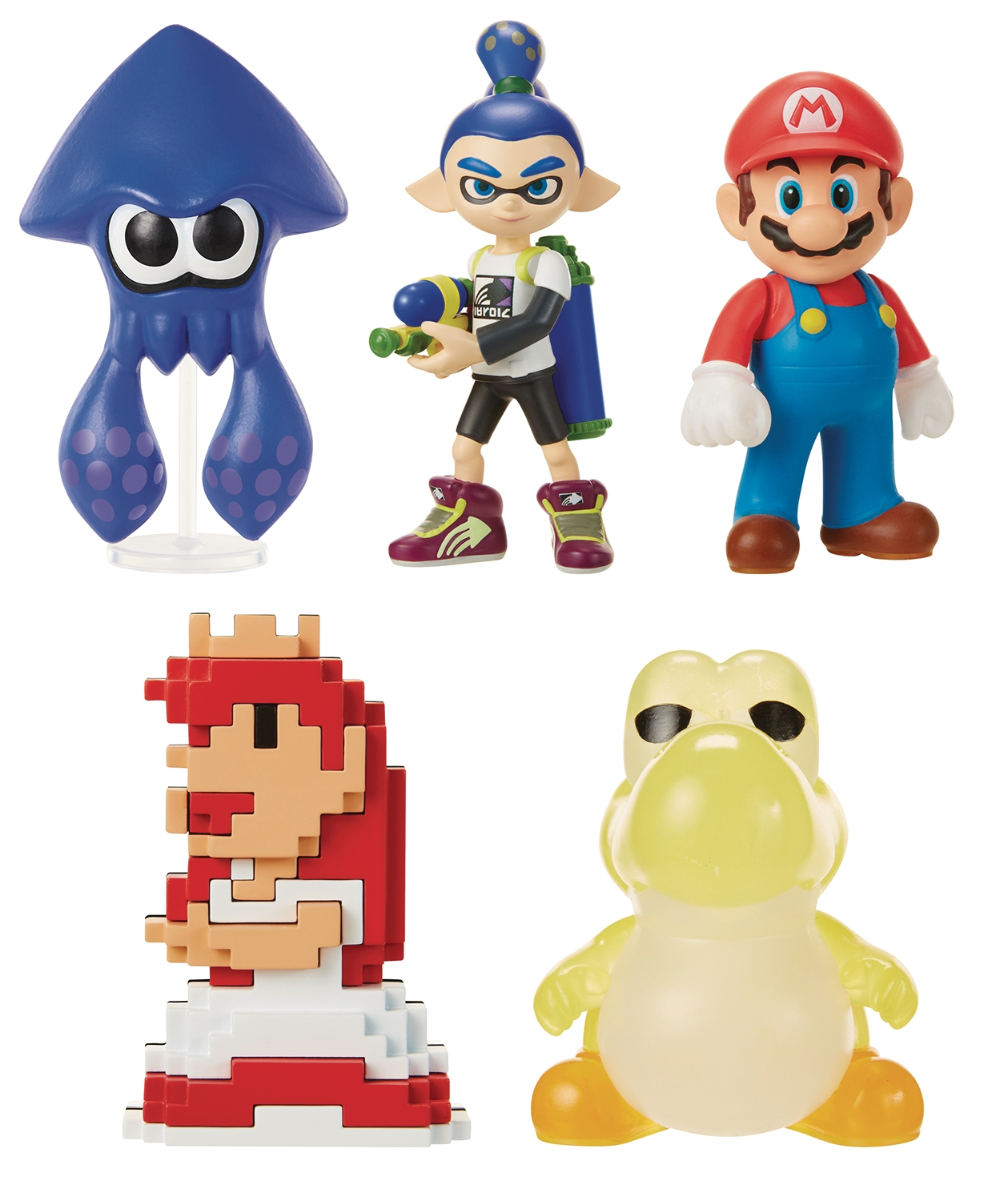 "Nintendo 2.5"" PVC Figures Wave 13: Blue Inkling Boy"