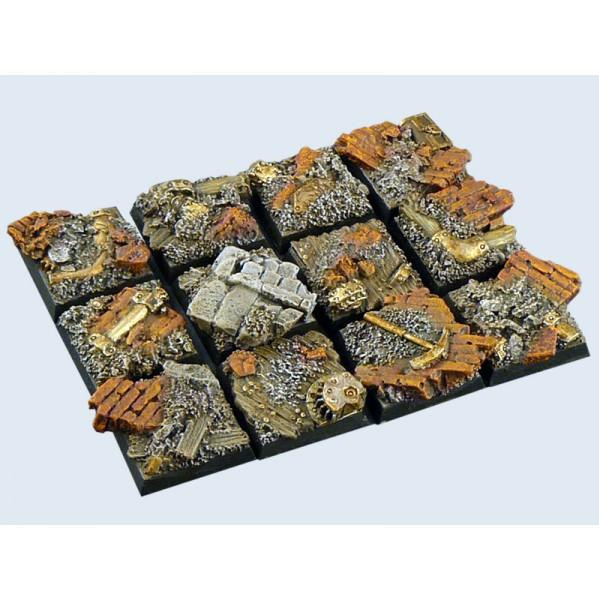 Basicks Bases: Old Factory: Square 20mm