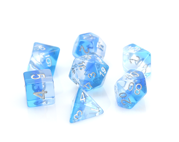 POLY RPG DICE SET - TRANSLUCENT ICE STORM
