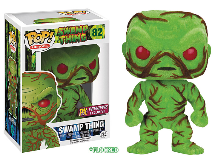 POP! Heroes 082: Swamp Thing Flocked (PX Previews Exclusive)