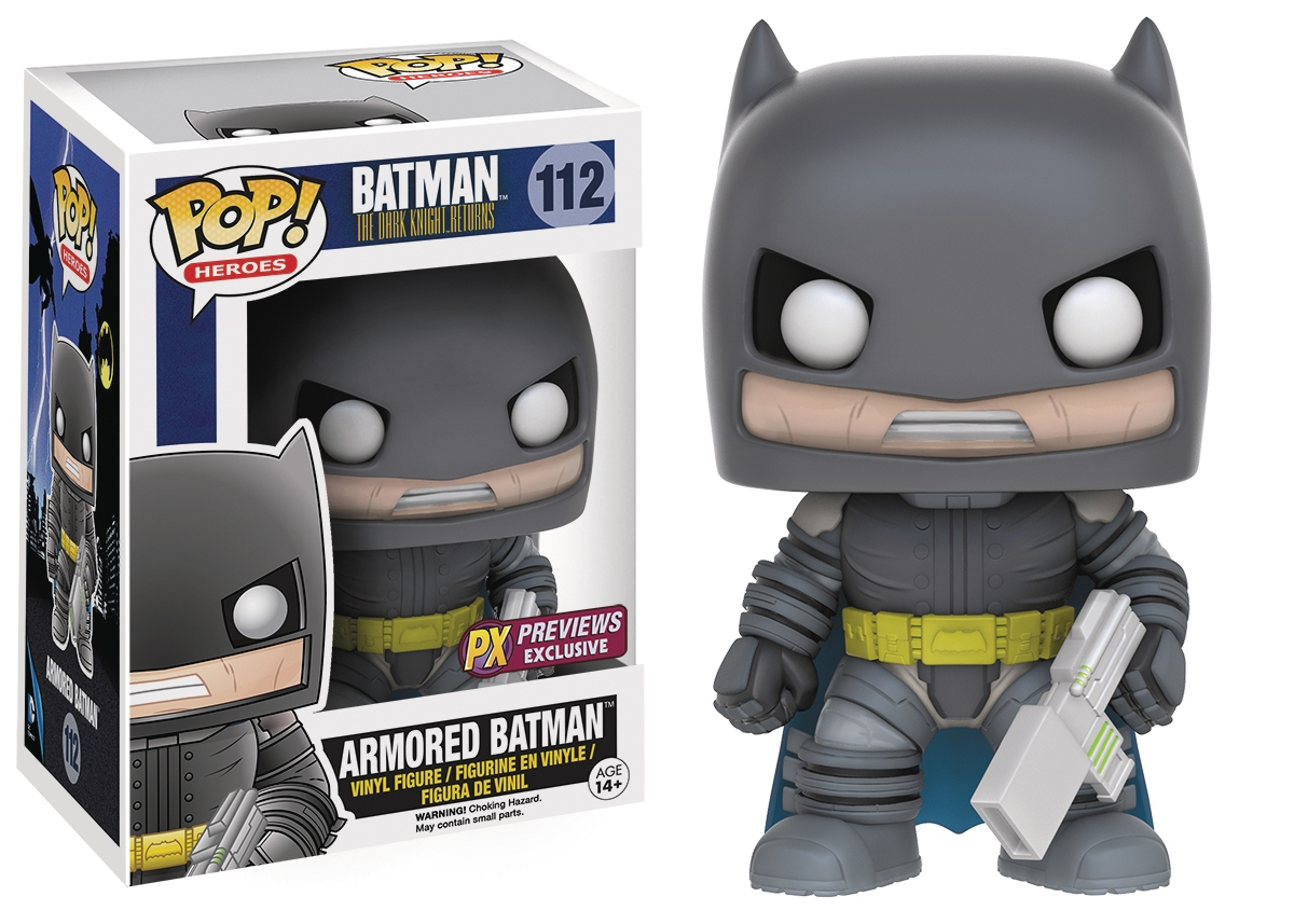 POP! Heroes 112: Batman The Dark Knight Returns- Armored Batman (PX Previews Exclusive)