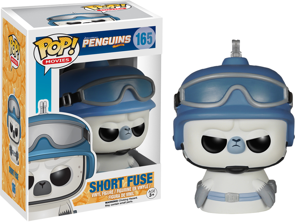 POP! Movies 165: The Penguins of Madagascar- Short Fuse [DAMAGED BOX]