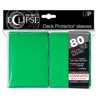 PRO-Matte Eclipse Standard Deck Protector Sleeves: Green