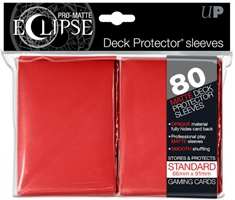PRO-Matte Eclipse Standard Deck Protector Sleeves: Red