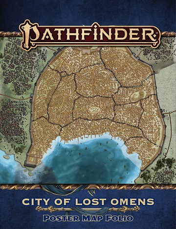 Pathfinder 2E: City of Lost Omens Poster Map Folio