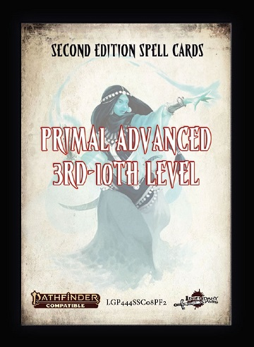 Pathfinder Cards 2E: SPELL CARDS Primal Advanced