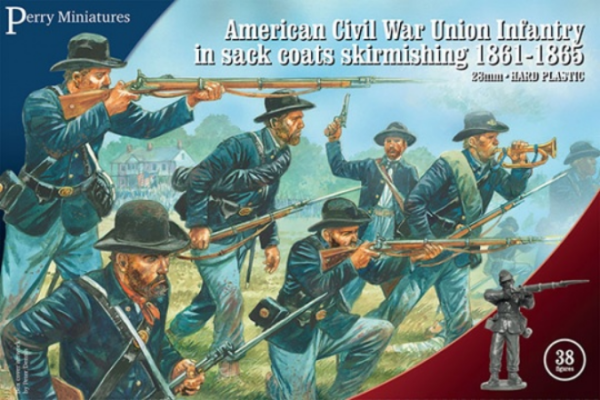 Perry: 28mm American Civil War: Union Infantry in Sack Coats Skirmishing 1861-1865