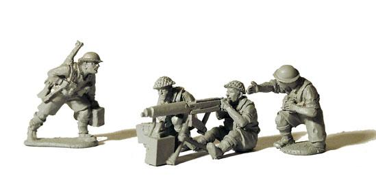 Perry: 28mm WWII: British Vickers Machinegun and 4 Crew