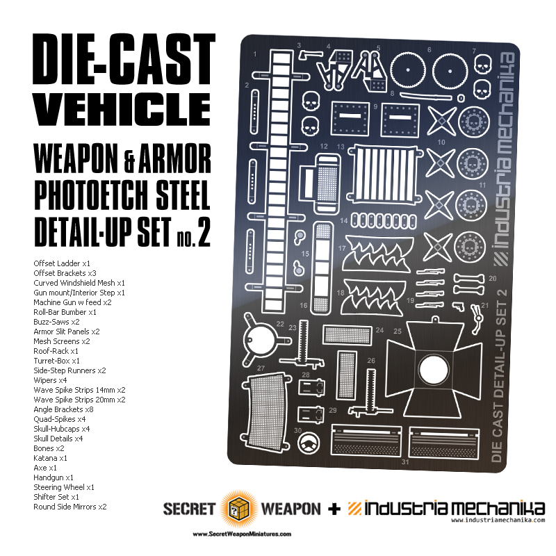Photoetch Steel: Die-Cast Vehicle Detail Set 2