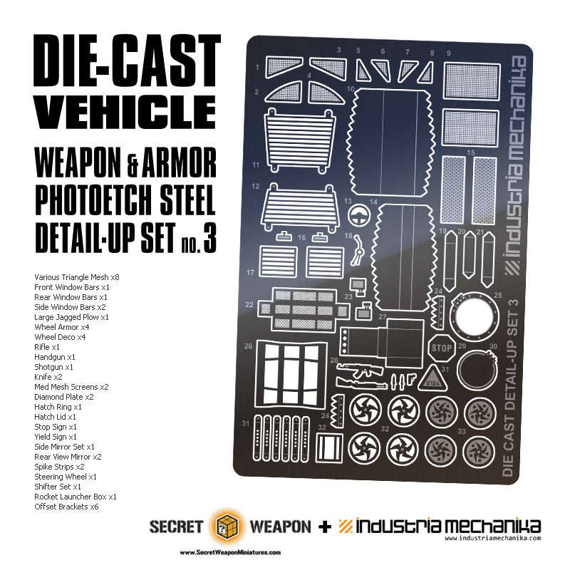 Photoetch Steel: Die-Cast Vehicle Detail Set 3