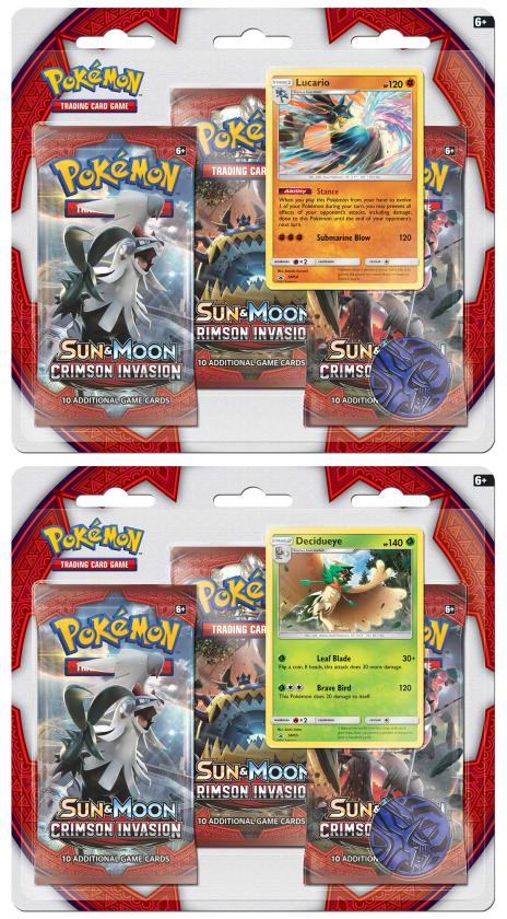Pokemon: Crimson Invasion- Blister 3-Pack Decidueye