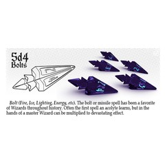 Polyhero Dice: Level Up Pack - 5D4 Violet Storm with Lightning