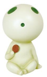Princess Mononoke: Tree Spirit (Kodama) Glow-in-the-Dark Coin Bank