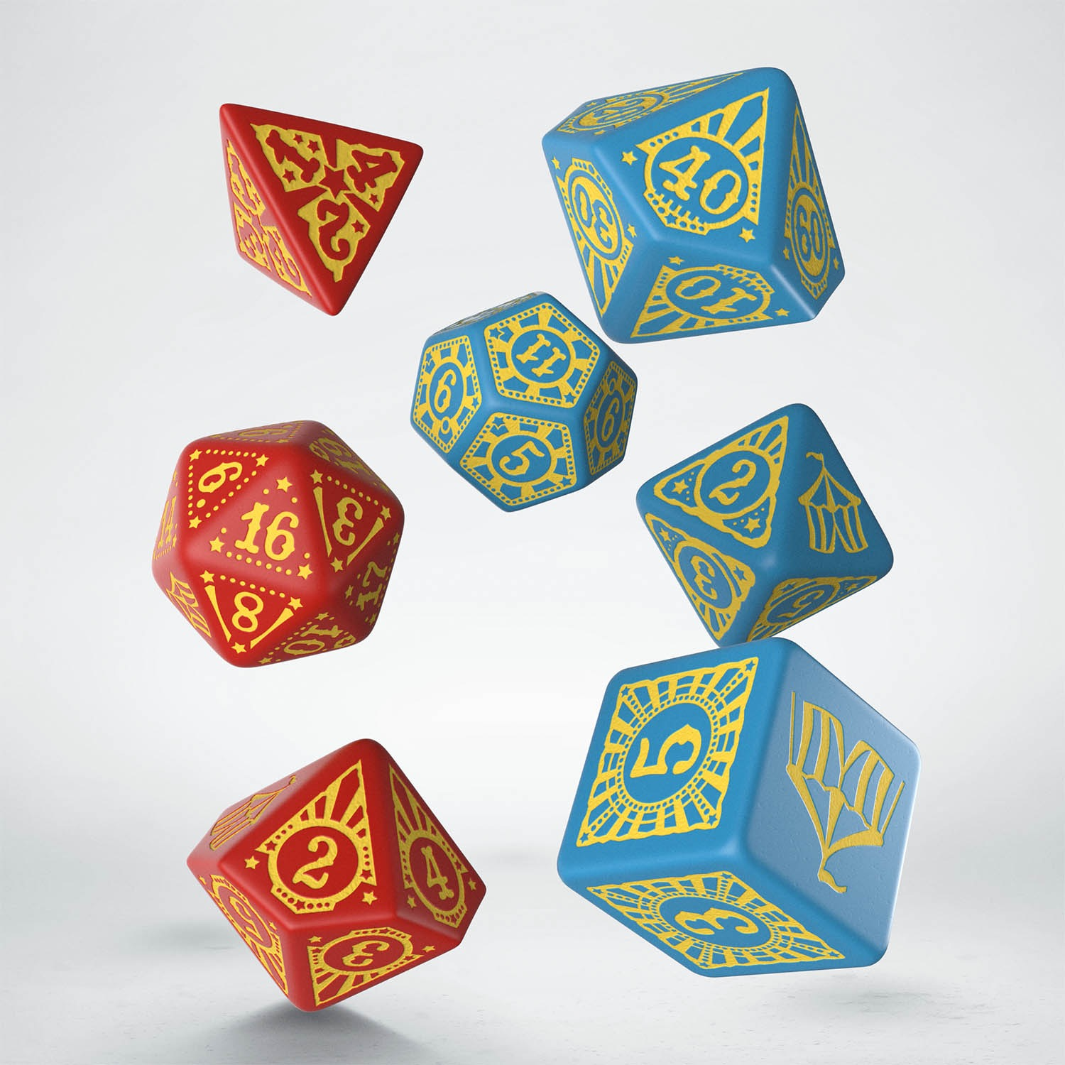Q-Workshop: 7 Dice Set- Pathfinder: Entertainers Dice Set