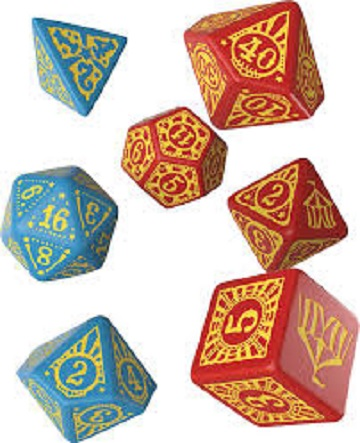 Q-Workshop: 7 Dice Set- Pathfinder: PERFORMERS DICE SET