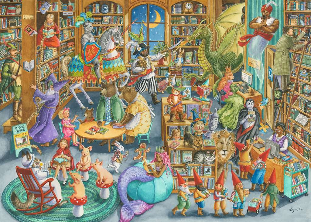 Ravensburger Puzzles (1000): Midnight at the Library