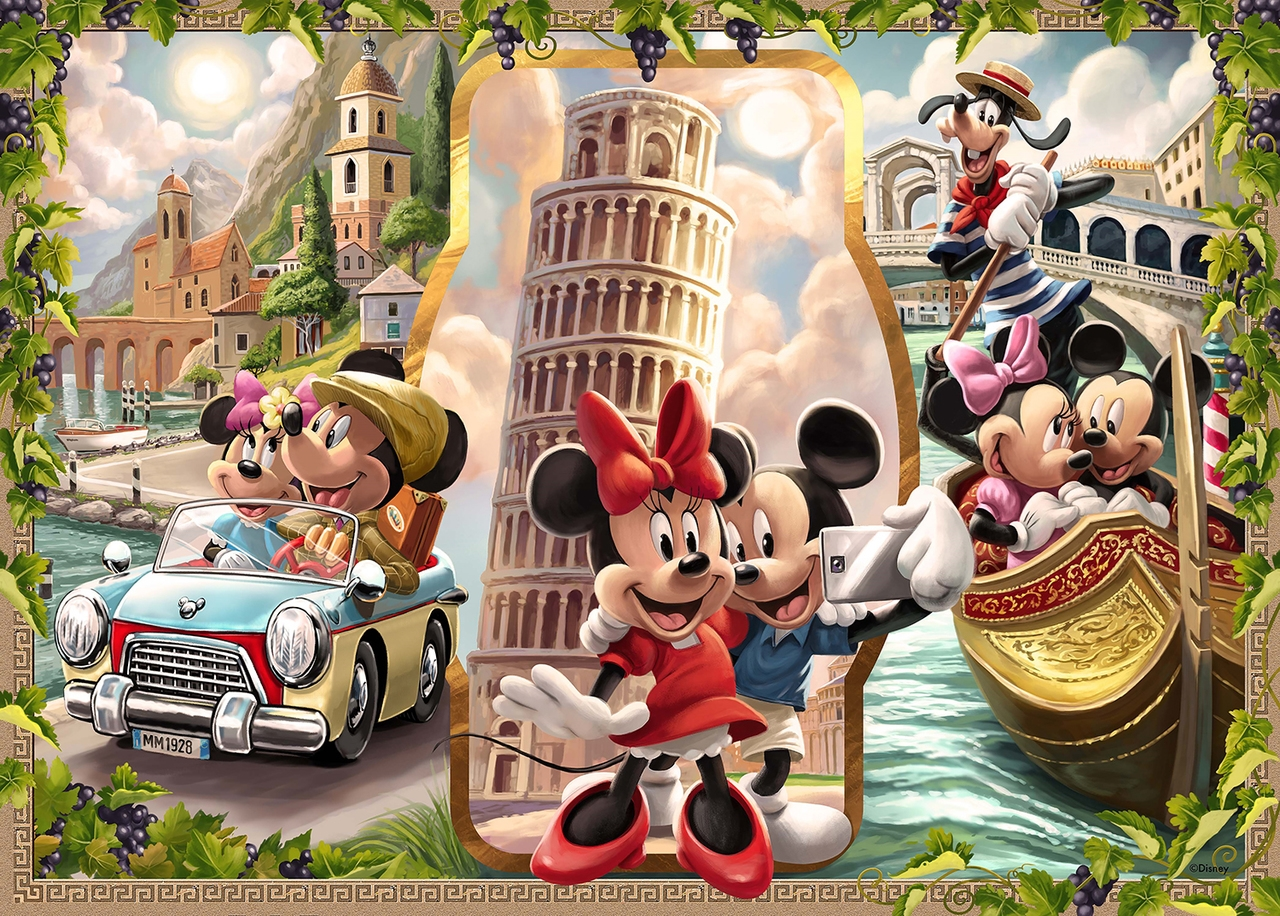 Ravensburger Puzzles (1000): Vacation Mickey & Minnie