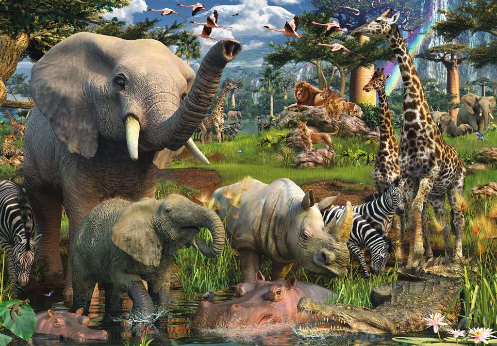 Ravensburger Puzzles (18000): At the Waterhole