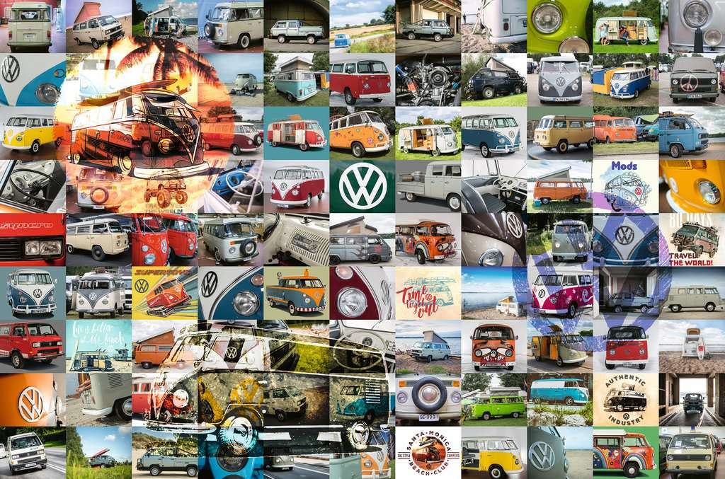 Ravensburger Puzzles (3000): 99 VW Campervan Moments
