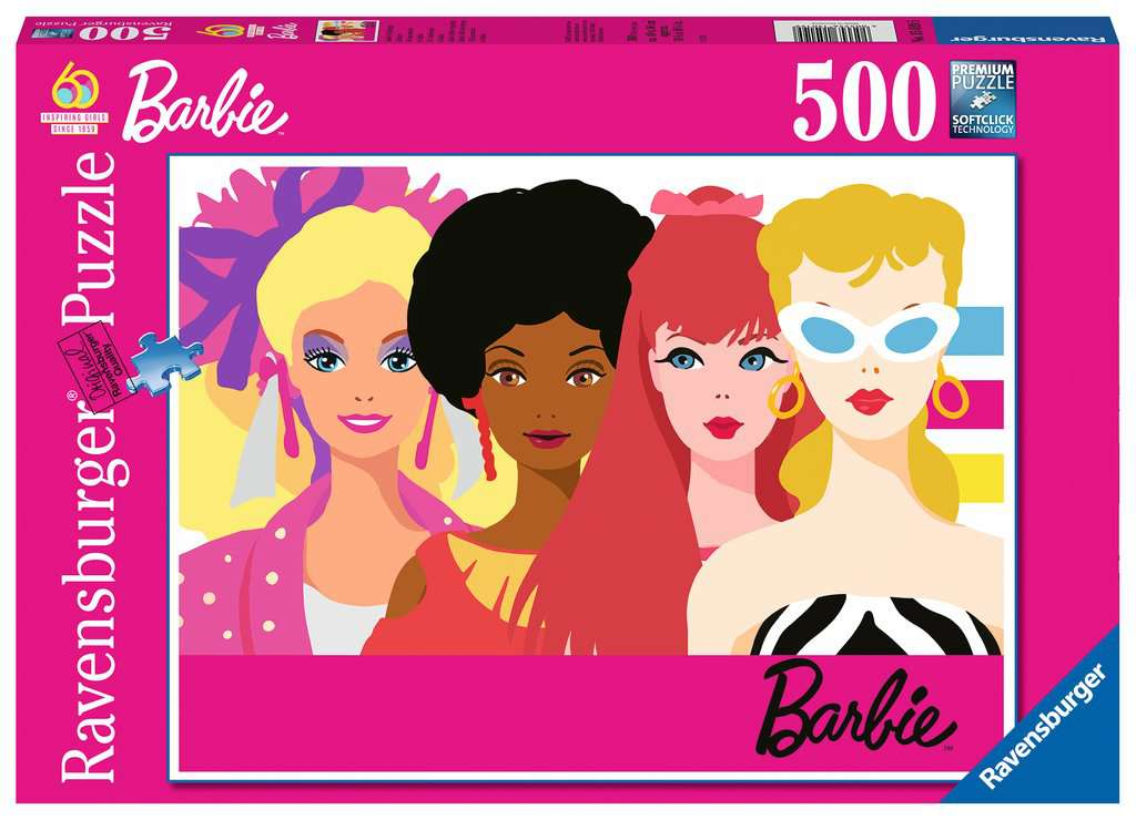 Ravensburger Puzzles (500): Barbie 60th Anniversary