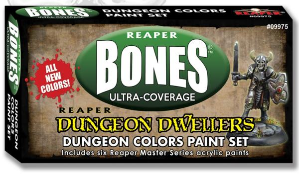 Reaper MSP Bones: Ultra-Coverage Dungeon Dwellers Dungeon Colors Paint Set