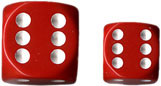 Chessex (25604): D6: 16mm: Opaque: Red/White
