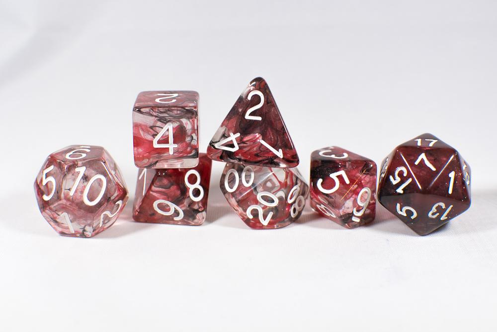 Role 4 Initiative Polyhedral 7 Dice Set: Diffusion Bloodstone