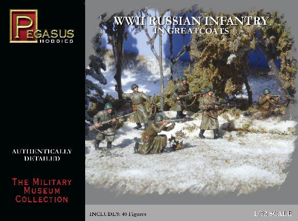 Pegasus Hobbies WWII 1/72: Russian Infantry in Greatcoats