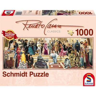 Schmidt Spiele Puzzles (1000): 100 years of Film Panoramic
