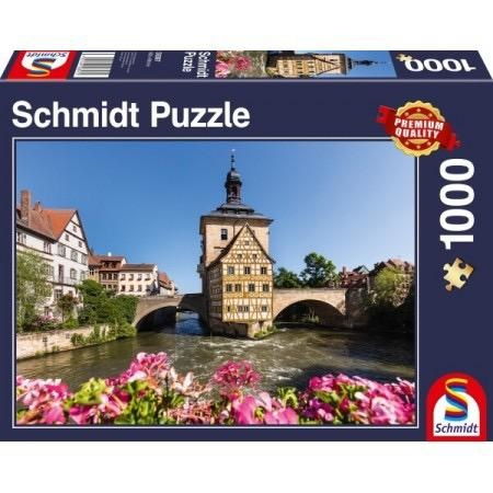 Schmidt Spiele Puzzles (1000): Bamberg, Regnitz and Old Town hall
