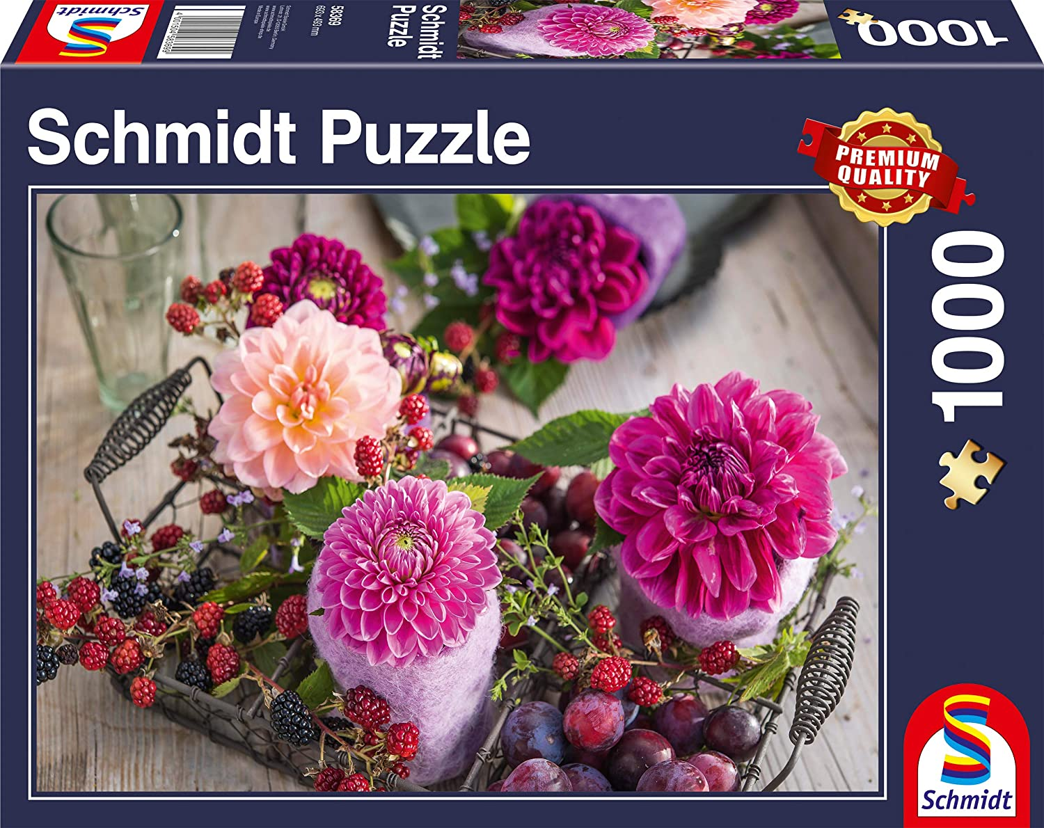 Schmidt Spiele Puzzles (1000): Berries and Flowers