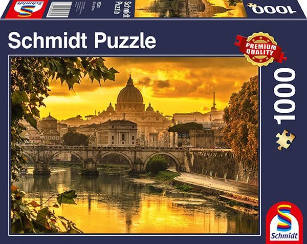 Schmidt Spiele Puzzles (1000): Golden Light Over Rome