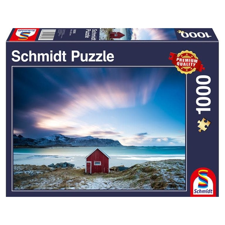 Schmidt Spiele Puzzles (1000): Hut at the Atlantic Coast