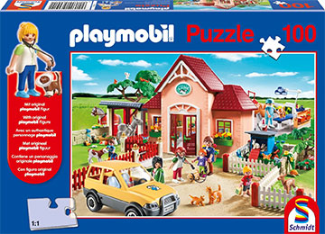 Schmidt Spiele Puzzles: PLAYMOBIL AT THE VET [Damaged]