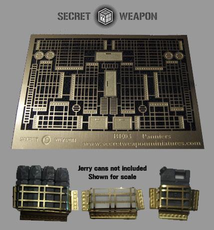 Secret Weapon Miniatures: Photo Etched Brass: Panniers & Details